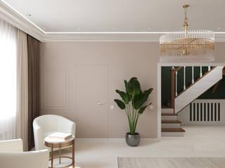 Нежный, светлый интерьер холла дома для приема гостей. Гостиная в классическом стиле от Anikina_des_studio Классический