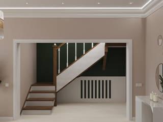 Нежный, светлый интерьер холла дома для приема гостей. от Anikina_des_studio Классический