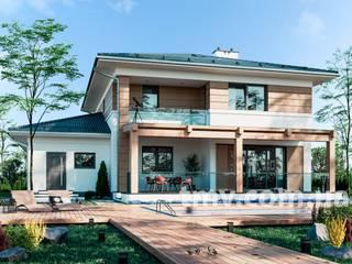 Проект двухэтажного дома c подвалом TMV 103 от TMV Architecture company