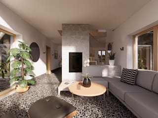 East Yorkshire Passivhaus モダンデザインの リビング の Samuel Kendall Associates Limited モダン