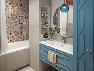 Яркий Ванная комната в эклектичном стиле от Anikina_des_studio Эклектичный