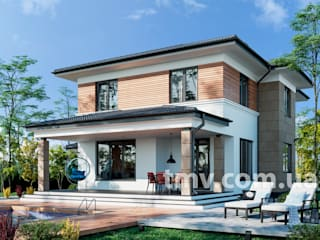 Проект двухэтажного дома с террасой TMV 82 от TMV Architecture company