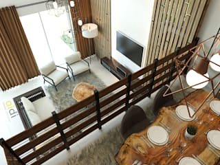 House #53 AIDI Interior Designer Minimalist dining room Wood Wood effect
