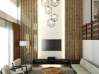 House #53 AIDI Interior Designer Living room Wood Wood effect