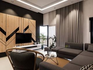 Corner Lot #7 AIDI Interior Designer Living room Multicolored