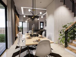 Corner Lot #7 AIDI Interior Designer Modern dining room Multicolored