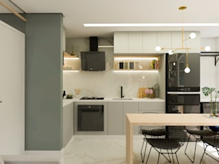 Arquiteto Virtual - Projetos On lIne Dapur kecil Kuarsa Grey