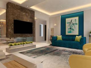 HC Designs Salas de estilo minimalista Mármol Beige