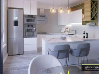 Dapur Modern Oleh Glancing EYE - Asesoramiento y decoración en diseños 3D Modern