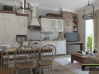 Dapur Gaya Country Oleh Glancing EYE - Asesoramiento y decoración en diseños 3D Country