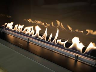 Эксклюзивная мебельная стенка и биокамин FLA 3 в нише под телевизором: сучасний  вiд Planika, Сучасний