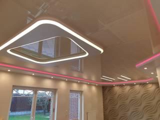 Spanndecken mit indirekter Beleuchtung Spanndecken Anbieter Moderne Wohnzimmer
