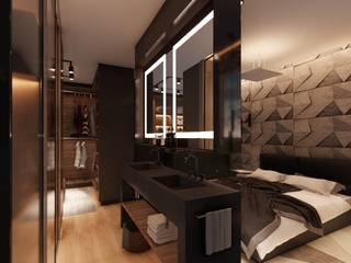 Suíte do Dj Quartos modernos por Petillo Arquitetura Moderno