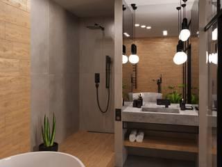 Квартира холостяка Ванная комната в стиле минимализм от SKRIPNIK DESIGN Минимализм