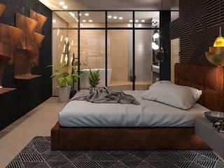 Квартира холостяка Спальня в стиле минимализм от SKRIPNIK DESIGN Минимализм