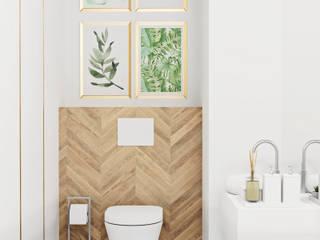 Mieszkanie w tropikach Nowoczesna łazienka od AN Koncept Anita Niziałek Nowoczesny