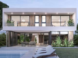 CASA S - Lomas de City Bell de A'PRIMA - Arquitectura Sustentable Moderno