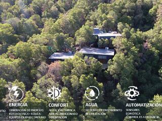 PREFABRICASA 1. Vivienda Modular, Automatizada y Sustentable. PREFABRICASAS Casas de campo Metal Negro