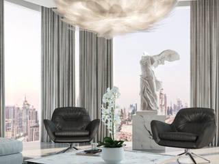 Loft Trembley Salones minimalistas de HC Arquitecto Minimalista