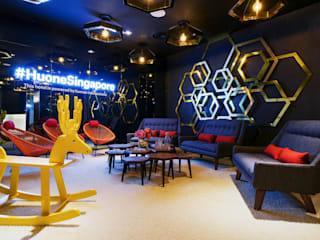 HUONE EVENT SPACE DMZ Consultancy Sdn Bhd Commercial Spaces Copper/Bronze/Brass Amber/Gold