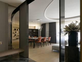 大器聯合室內裝修設計有限公司 Pasillos, vestíbulos y escaleras de estilo escandinavo