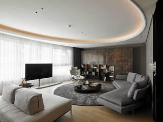 大器聯合室內裝修設計有限公司 Salones de estilo escandinavo