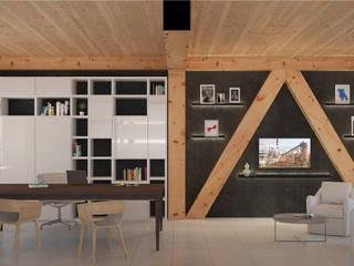 Estudios y oficinas modernos de VILLE IN BIOEDILIZIA Moderno