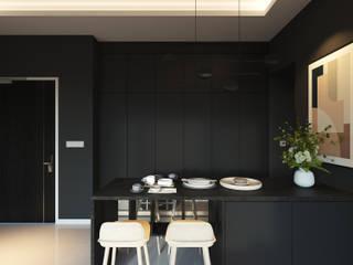 SKYLUXE CONDOMINIUM, BUKIT JALIL BOLDNDOT SDN BHD Modern dining room Black