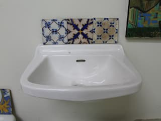 RECUPERANDO BRICK AND STONE BathroomSinks Ceramic White