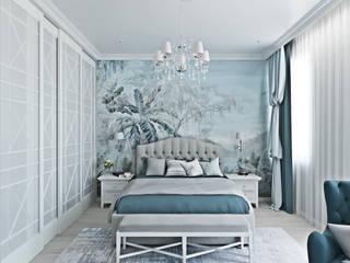 """Проект """"Эклектичный"""" Спальня в эклектичном стиле от L.E.DESIGNINTERIOR Эклектичный"""