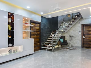 Modern Corridor, Hallway and Staircase by THE LINE STUDIO Modern