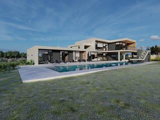Casa CV Casas de estilo mediterráneo de WINTERI Mediterráneo