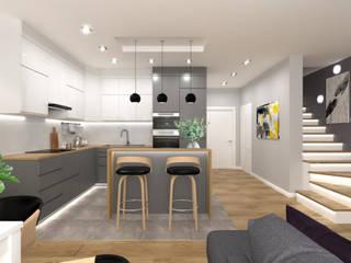Aranżacja Kuchni w Nowoczesnym Stylu od Senkoart Design Nowoczesny