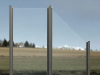 ZAUN-AUS-GLAS Jardines delanteros Vidrio