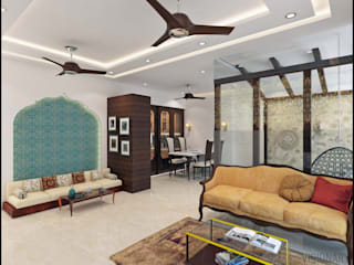 3BHK RESIDENCE IN MUMBAI Mediterranean style nursery/kids room by VISIONARY DESIGN Mediterranean