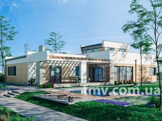Проект стильного двухэтажного дома TMV 44 от TMV Architecture company