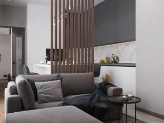 Квартира ЖК Эверест Гостиная в стиле минимализм от Проектно-строительная компания УралДеко Минимализм