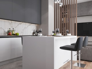 Квартира ЖК Эверест Кухня в стиле минимализм от Проектно-строительная компания УралДеко Минимализм