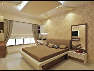 3BHK RESIDENCE IN MUMBAI Modern style bedroom by VISIONARY DESIGN Modern