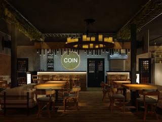 Стейк-Хауз Coin Бары и клубы в стиле лофт от Руденская Дизайн Лофт