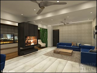 2BHK RESIDENCE Modern living room by VISIONARY DESIGN Modern