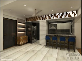 2BHK RESIDENCE Modern dining room by VISIONARY DESIGN Modern