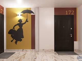 Eklektik Koridor, Hol & Merdivenler Компания архитекторов Латышевых 'Мечты сбываются' Eklektik