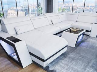 Orion – Collezione di divani moderni componibili in pelle o tessuto di Divanova Moderno
