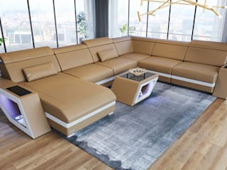 DIVANOVA Living roomSofas & armchairs Leather Beige
