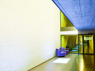 Modern Building Swiss Business Photography Modern Corridor, Hallway and Staircase Concrete Multicolored