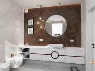 Projekt domu-Nowy Dwór Mazowiecki Nowoczesna łazienka od MYSPROJEKT Marek Myszkowski Nowoczesny