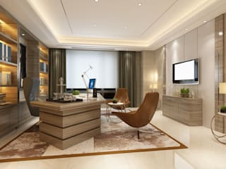 Inan AYDOGAN /IA Interior Design Office Eclectic style study/office Wood Wood effect