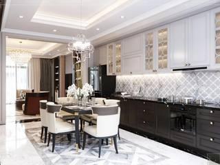 LAVILLA NEOCLASSICAL STYLE Phòng ăn phong cách kinh điển bởi Thiết kế nội thất ICONINTERIOR Kinh điển