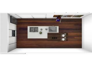 L&M design di Marelli Cinzia Вбудовані кухні MDF Білий